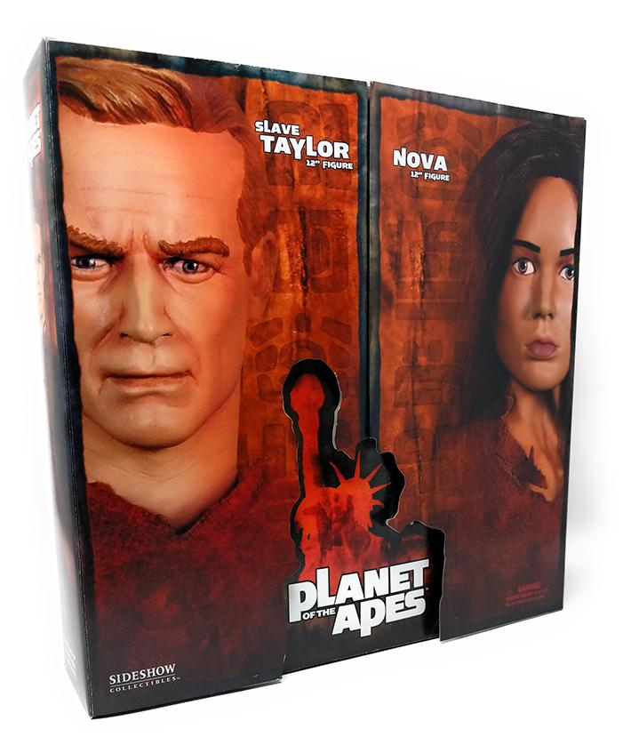 "Planet of the Apes (2005) Sideshow Collectibles, Slave Taylor & Nova 12"" Figure Dual Pack"