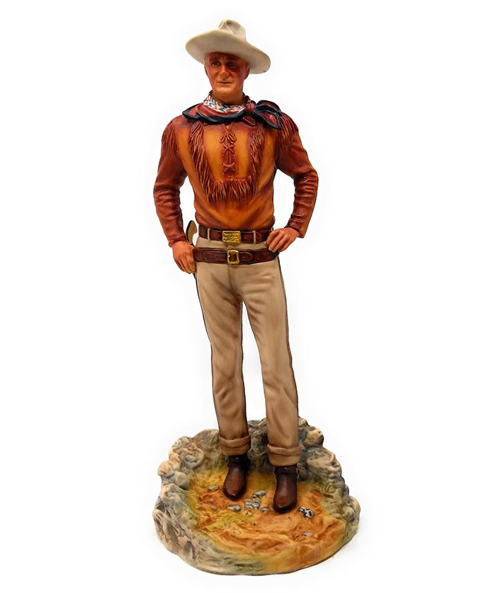 "John Wayne The Duke 11"" Hand Painted Porcelain Statue 