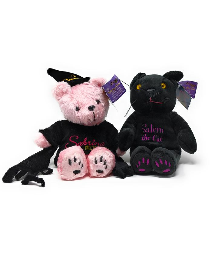 Sabrina the Teenage Witch Limited Edition Sabrina Bear and Salem Cat Plush Dual Pack