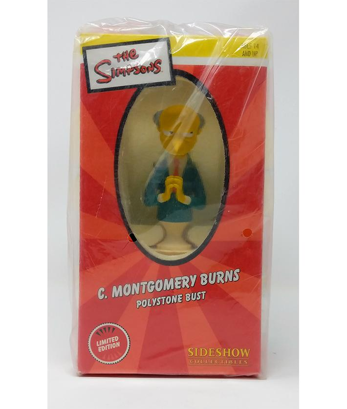 The Simpsons (2003) Sideshow Collectibles, Mr. Burns Polystone Bust Limited Edition Mini Statue