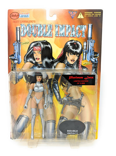 Double Impact Platinum Jazz Action Figure by Ricky Carralero and Skybolt Toyz, 1998 | Limited Edition of 5000