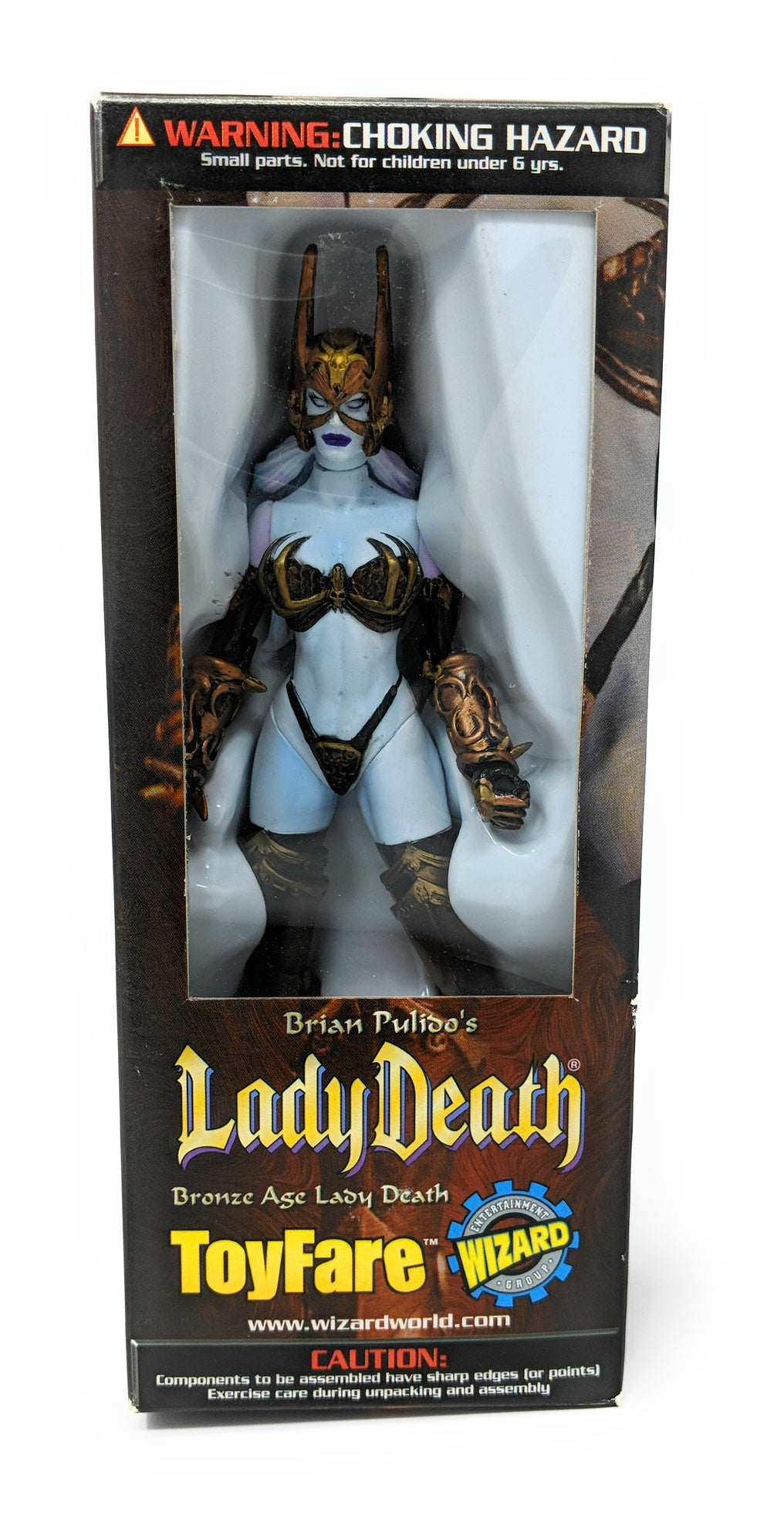 Brian Pulido's Lady Death Bronze Age 6 Inch Figure | Wizard Toyfare Exclusive