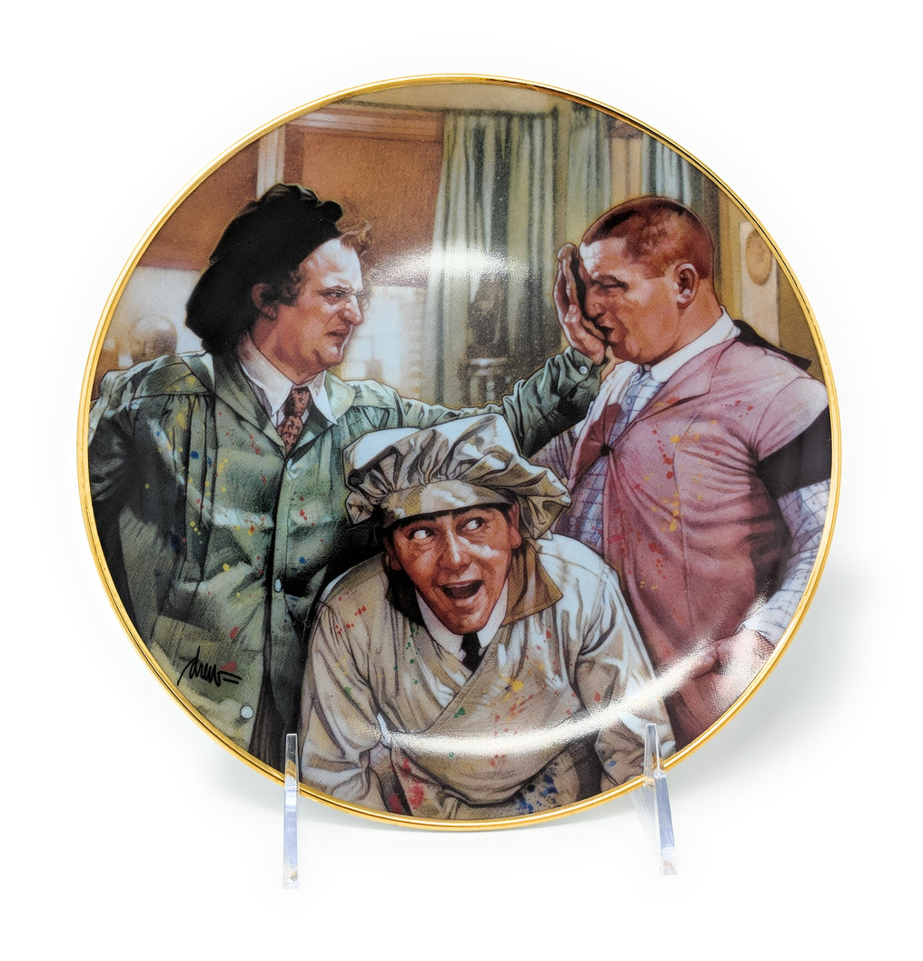 "The Three Stooges ""Pop Art"" 1994 Collectible Plate by Norman Maurer Productions – LA3118"