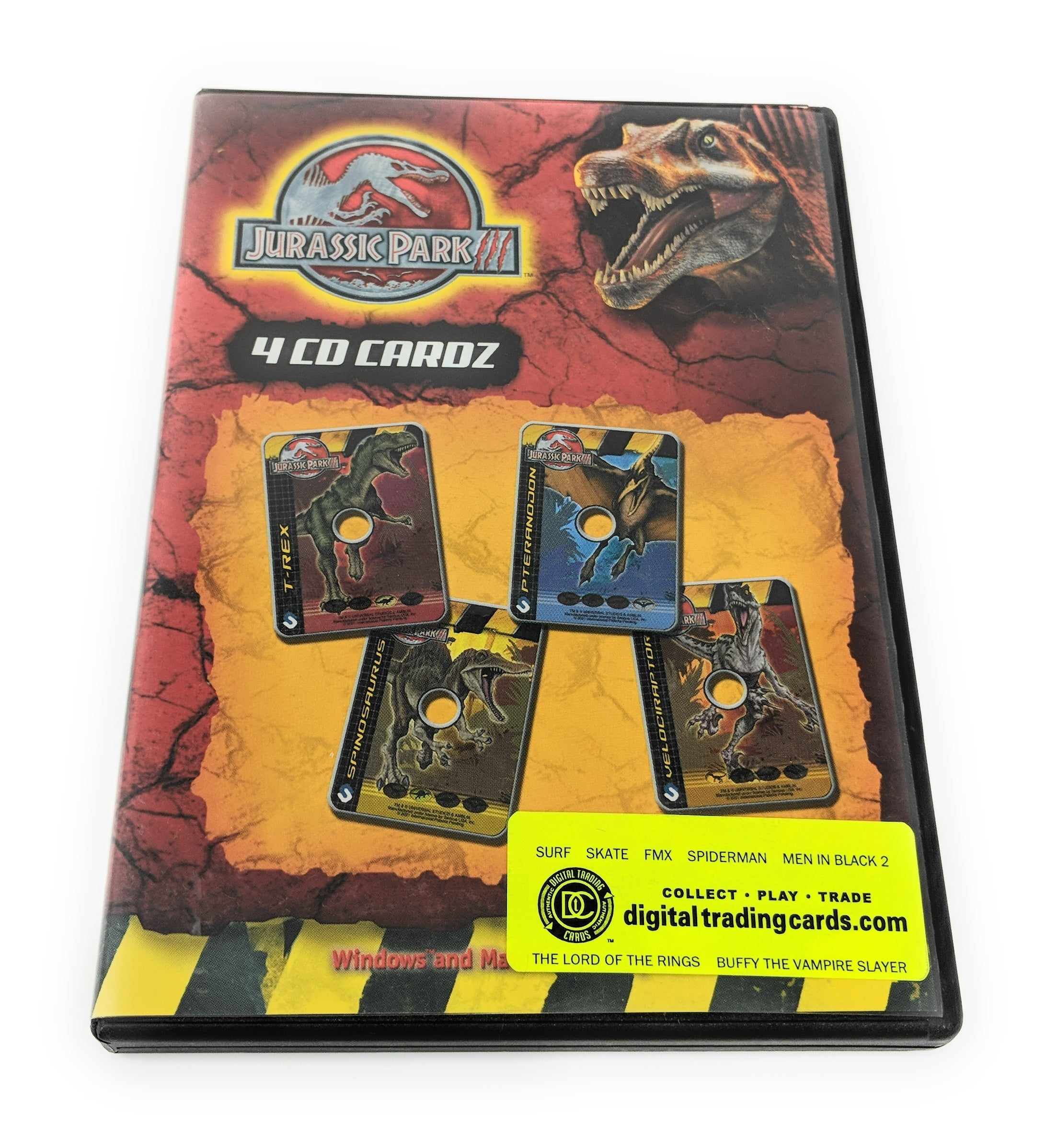 "Jurassic Park III Digital Trading Cards - Contains 4 CD-Rom ""Cardz"""