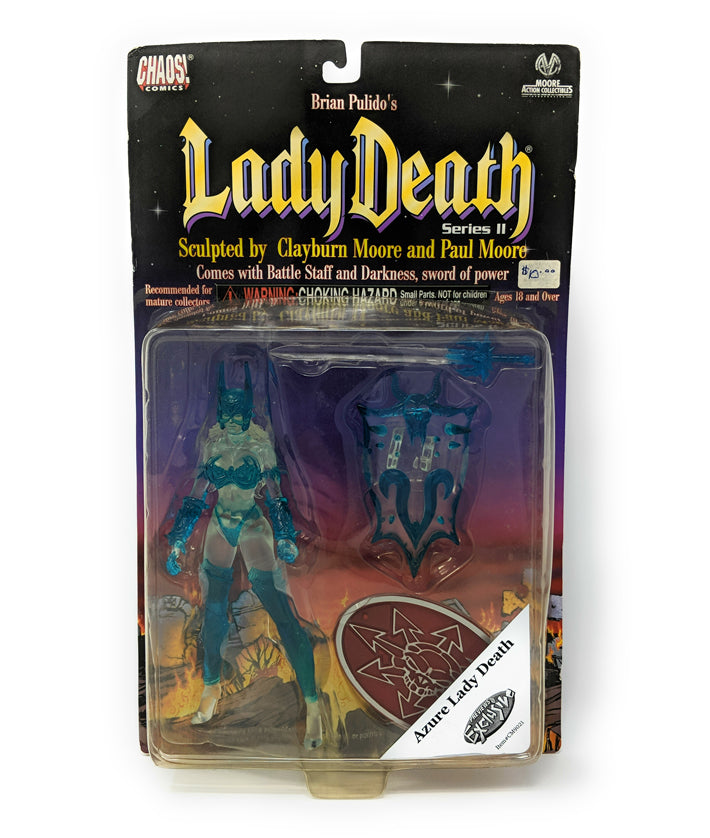 "1999 Azure Lady Death 8"" Action Figure Series 2 Previews Exclusive with Battle Staff and Darkness Sword"
