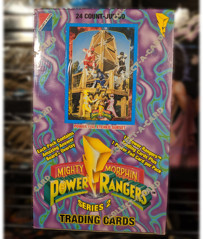MMPR 1994 Series 2 Trading Cards - Factory Sealed Box, 24 ct. Jumbo Packs