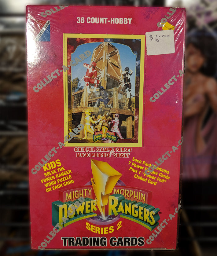 MMPR 1994 Series 2 Trading Cards - Factory Sealed Box, 36 ct. Box