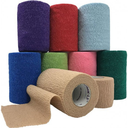 "3"" Assorted colored coflex bandage wrap"
