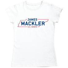 Load image into Gallery viewer, James Mackler for Senate Logo Tee