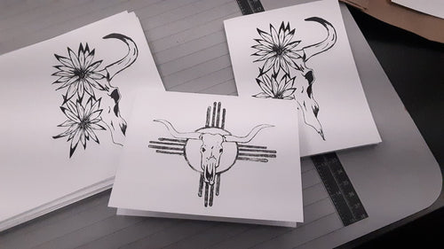 Hand drawn note cards