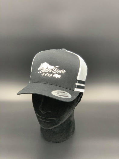 BB4X4 Black/White Trucker Cap