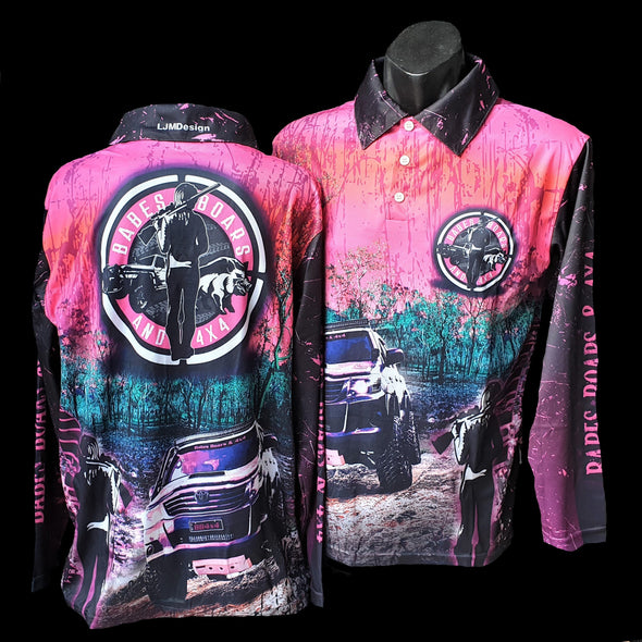 BB4x4 Kids Pink Fishing Shirts