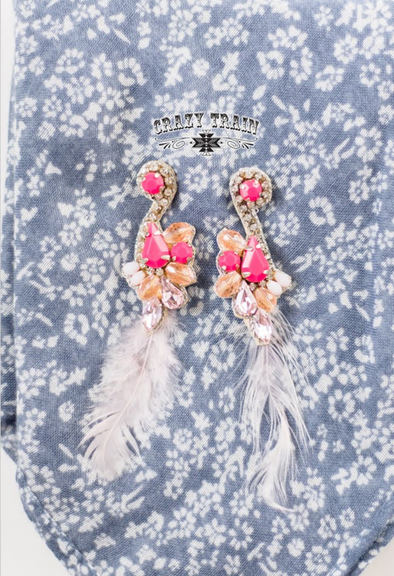 Crazy Train Pink Paradise Earrings