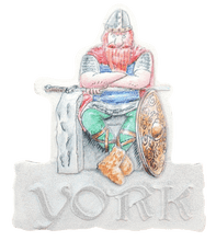 Load image into Gallery viewer, Resin magnet York Viking - britishsouvenirs