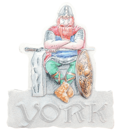 Resin magnet York Viking - britishsouvenirs