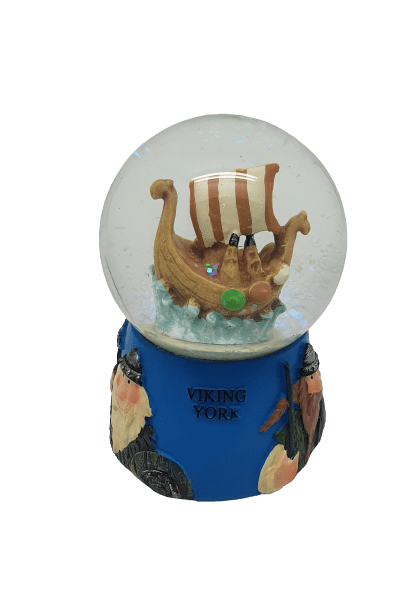 Snow Globe viking ship - britishsouvenirs