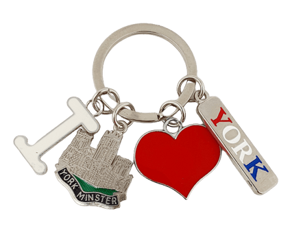 Keyring York charms I love York minster - Pridesouvenirs