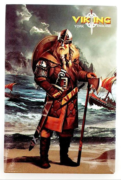 Tin Magnet York viking warrior-VK-03 - britishsouvenirs