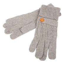 Load image into Gallery viewer, Womens Wool Blend gloves-Grey - britishsouvenirs