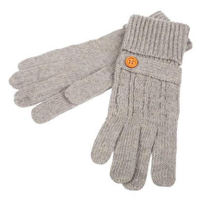 Womens Wool Blend gloves-Grey - britishsouvenirs