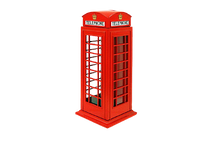 Load image into Gallery viewer, Telephone Booth Piggy Bank 15cm