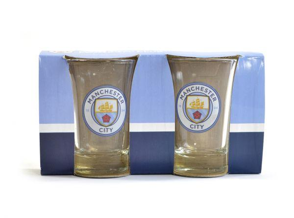 MAN CITY TWO PACK SHOT GLASSES - Pridesouvenirs