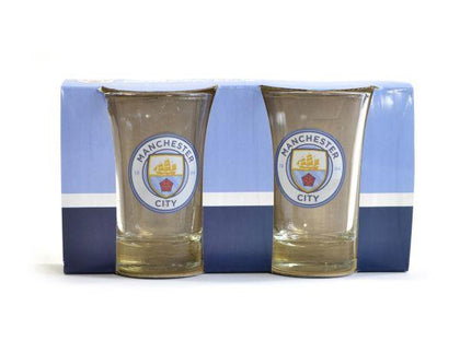 MAN CITY TWO PACK SHOT GLASSES