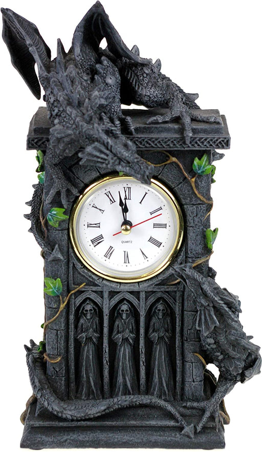 Duelling Dragons Clock 26cm