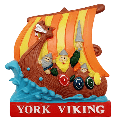 Resin magnet York viking ship - britishsouvenirs