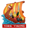 Resin magnet York viking ship
