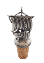 Load image into Gallery viewer, Bottle Stopper- Viking Ship