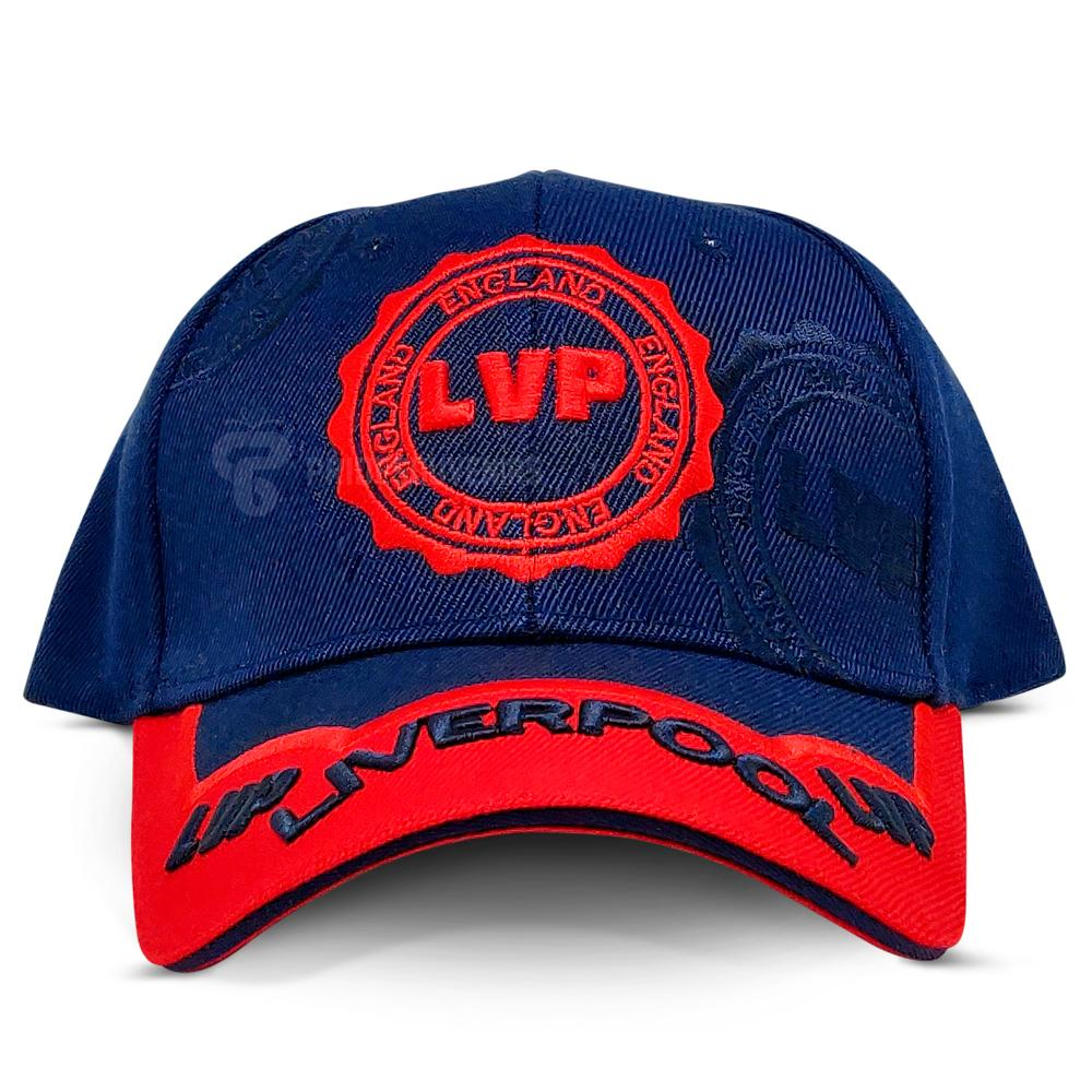 Liverpool Baseball 3D Stamp Cap Red and Navy