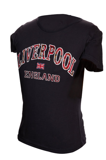 Liverpool Embroidered T-Shirt : Black - Pridesouvenirs