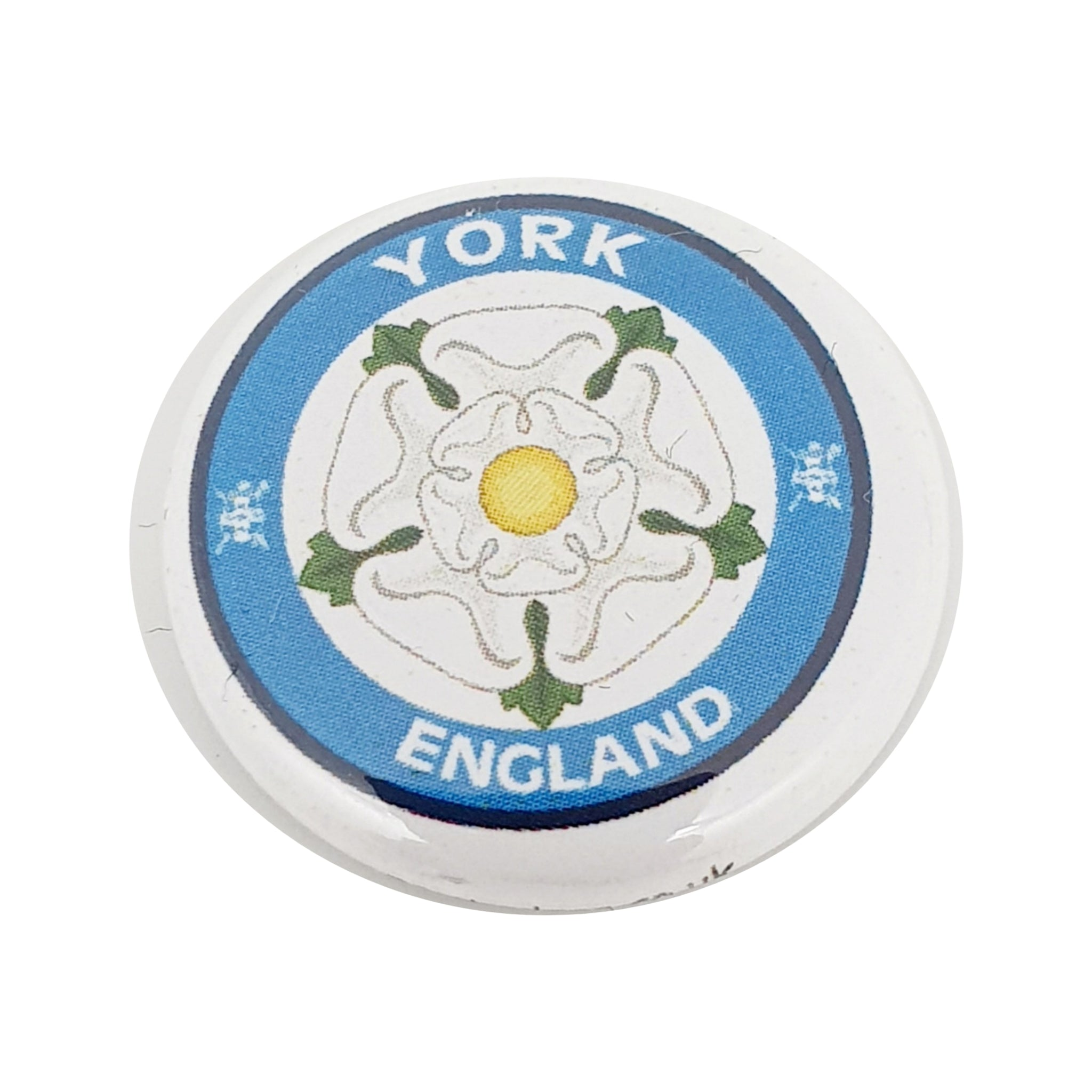 Button Badge Yorkshire Rose