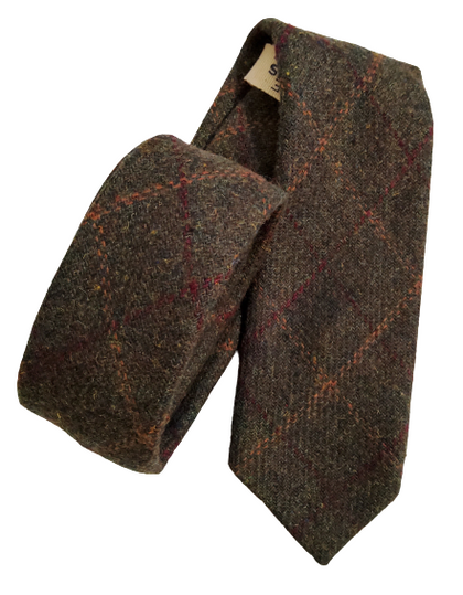 Green Box Tweed Neck Tie-britishsouvenirs