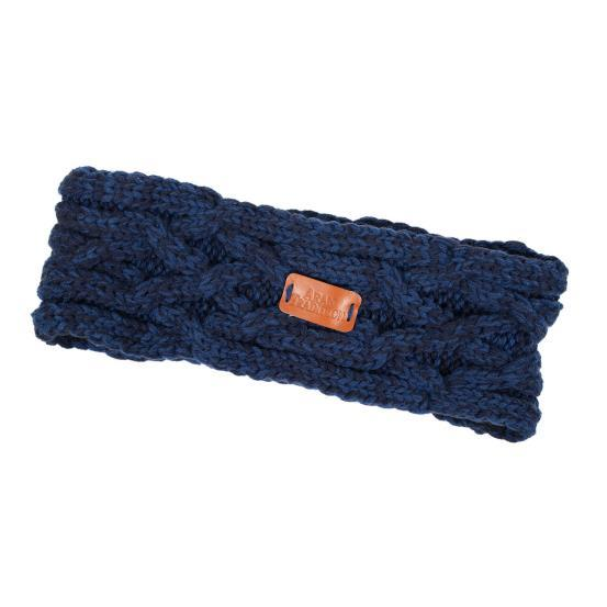Aran Knit Headband-Navy