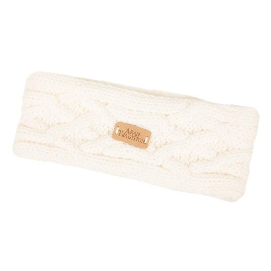 Aran Knit Headband-Cream