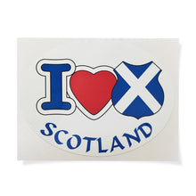 Load image into Gallery viewer, I Love Scotland Car Sticker