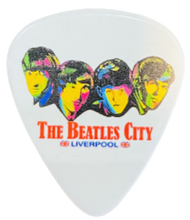 Load image into Gallery viewer, Liverpool - The Beatles City 4 Faces Guitar Plectrum