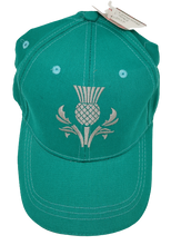 Load image into Gallery viewer, Green Thistle Baseball Cap - Scottish Caps