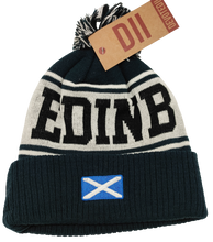 Load image into Gallery viewer, Edinburgh Pom Pom Ski Hat