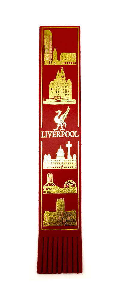 Liverpool Leather Bookmark-Red