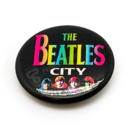 The Beatles City Button Badge - britishsouvenirs