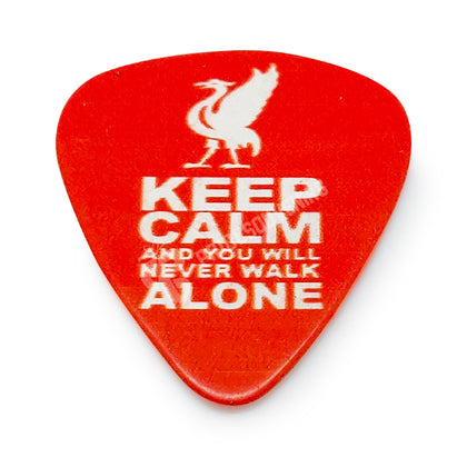Liverpool Plectrum - Keep Calm & You Will Never Walk Alone - Pridesouvenirs