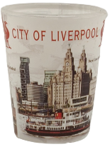 Load image into Gallery viewer, Liverpool Transparent Icons Shot Glass