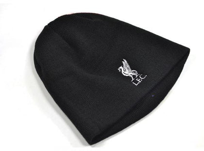 LIVERPOOL KNITTED CREST BEANIE HAT BLACK
