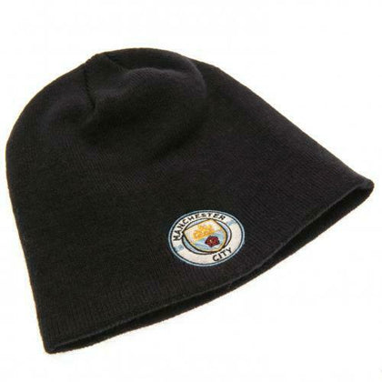 MAN CITY KNITTED CREST BEANIE HAT NAVY - Pridesouvenirs
