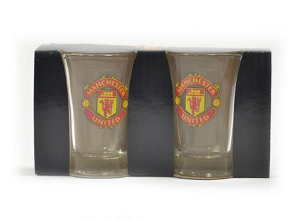 MAN UTD TWO PACK SHOT GLASSES