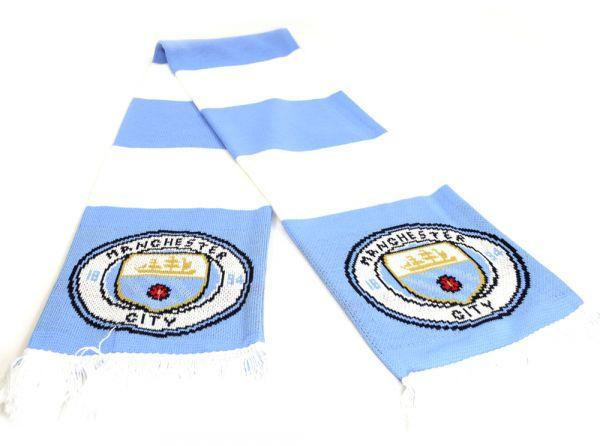 MAN CITY BAR SCARF NEW CREST