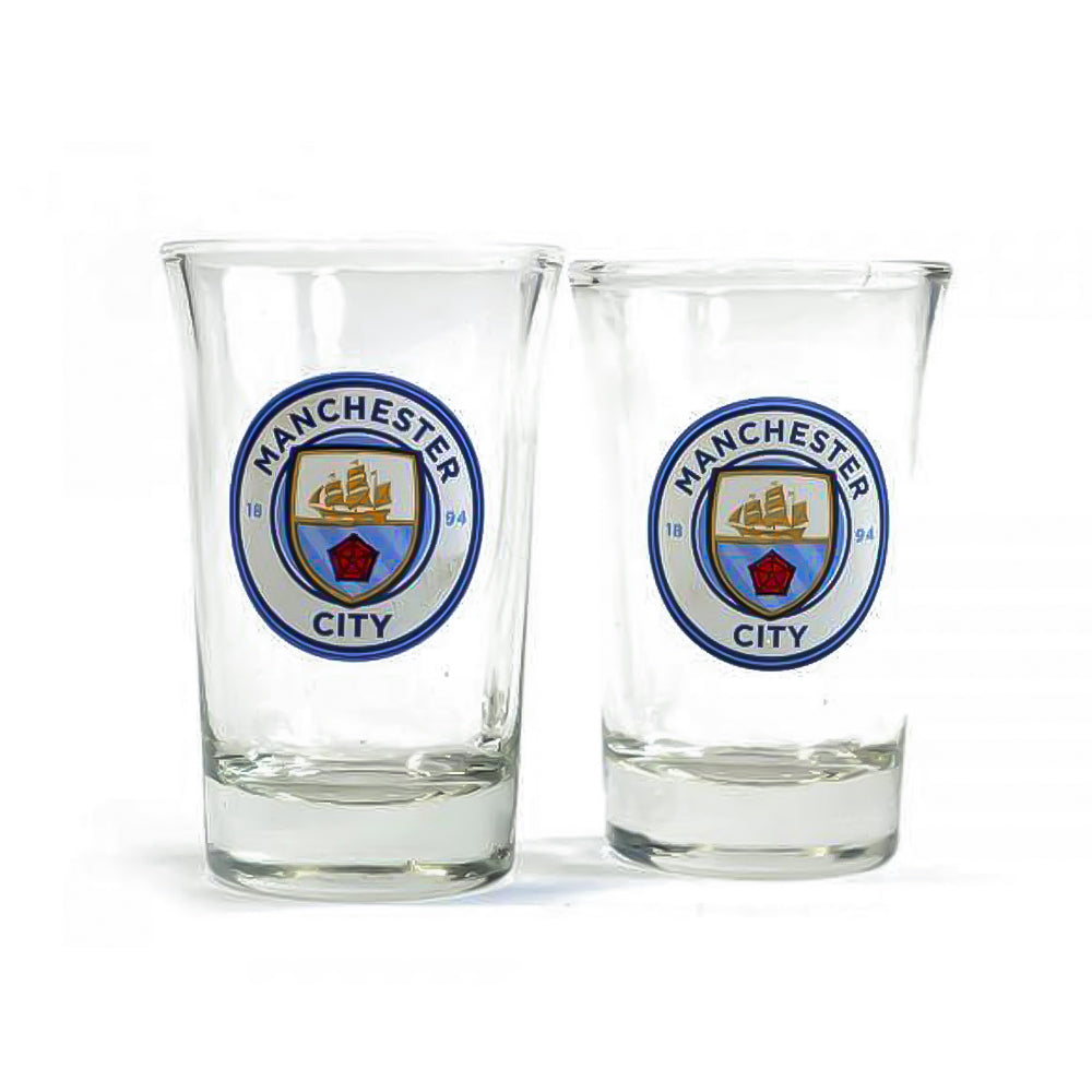 Manchester City Two Pack Shot Glasses